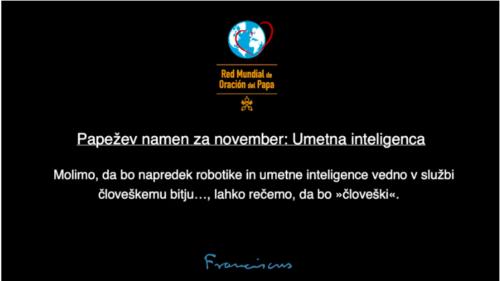 Papežev namen za november Umetna inteligenca