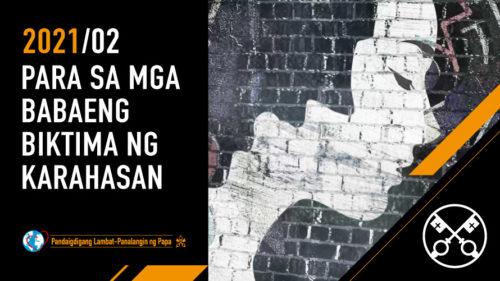 Official Image TPV 2 2021 TL - Ang Video ng Papa - Para sa mga babaeng biktima ng karahasan