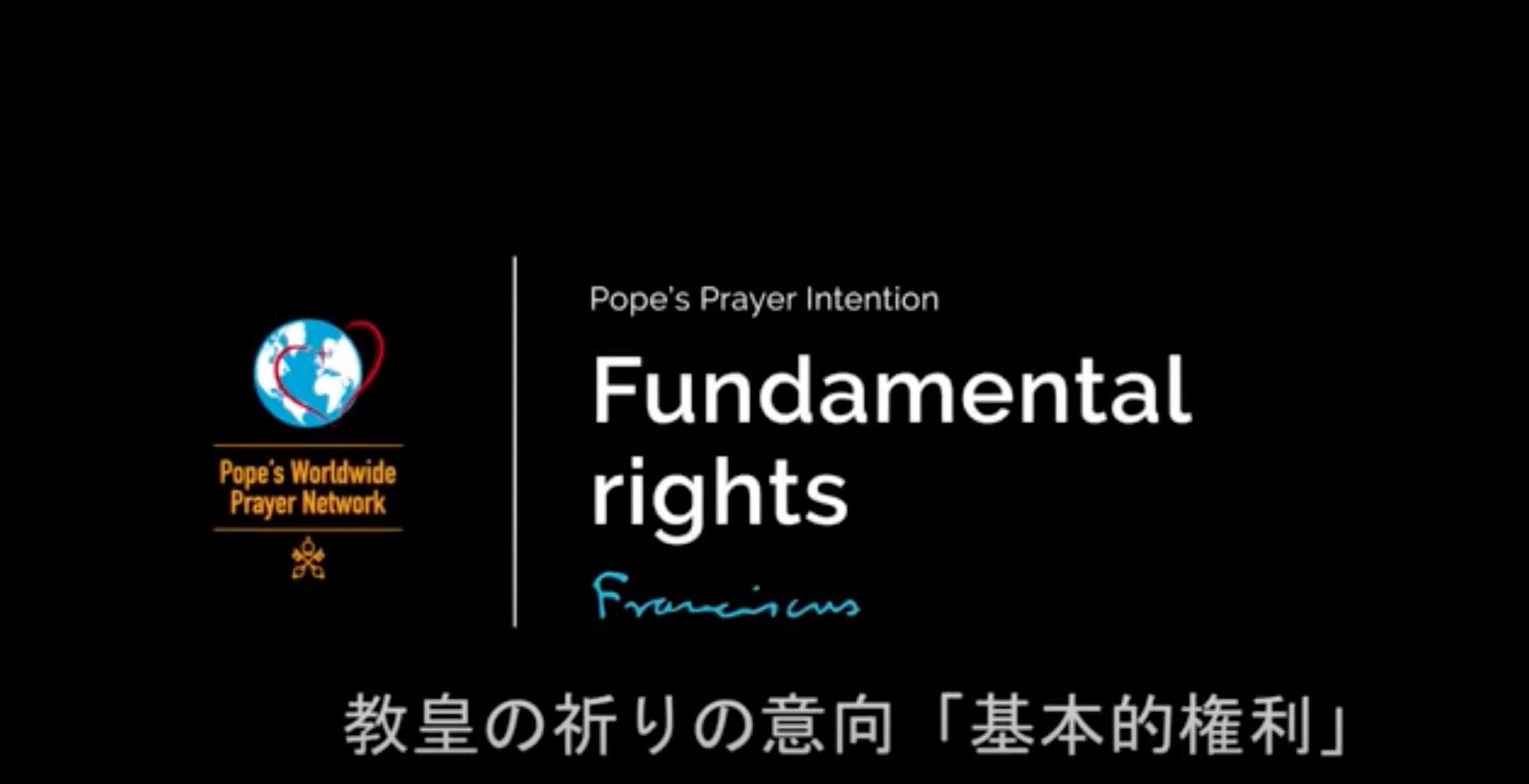 4月 | の祈りの意向「基本的権利」