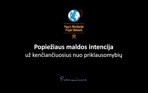 Popiežiaus maldos intencija: už kenčiančiuosius nuo priklausomybių