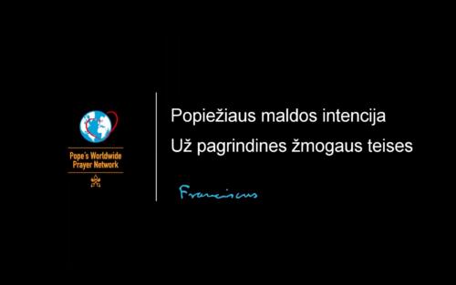 Popiežiaus maldos intencija: už pagrindines žmogaus teises