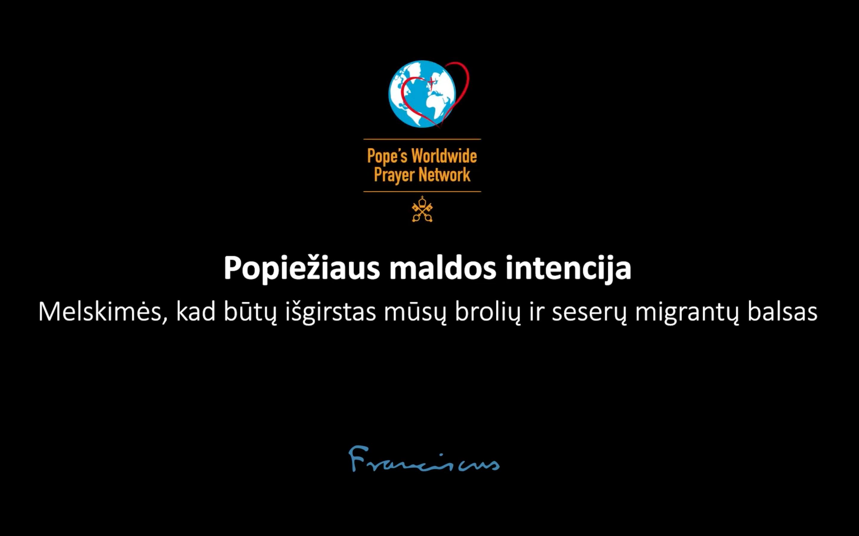 Popiežiaus maldos intencija vasario mėnesiui: už migrantus