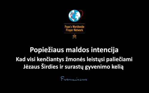 Popiežiaus maldos intencija birželiui