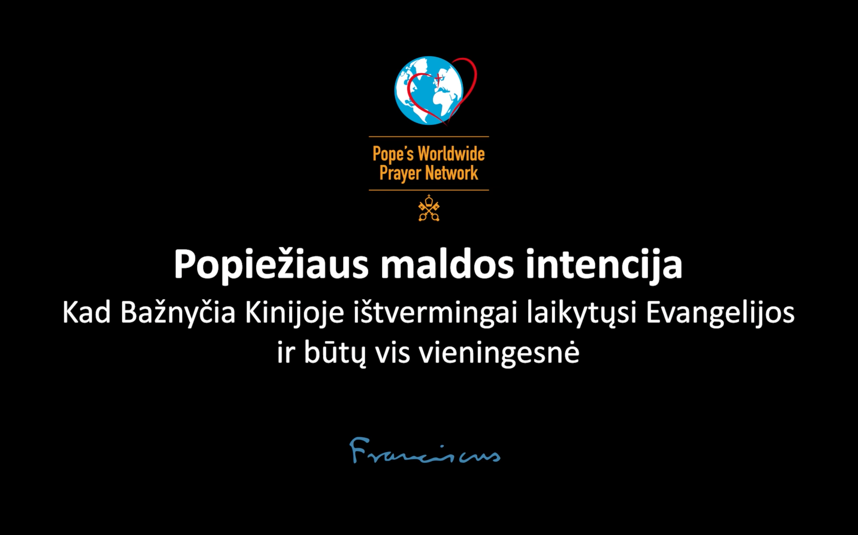 Popiežiaus maldos intencija kovo mėnesiui